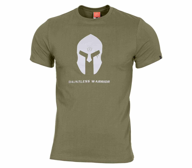 Camiseta Pentagon Spartan Helmet Oliva