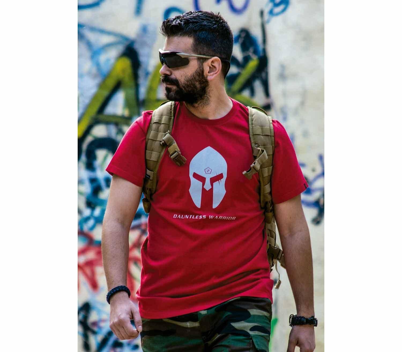 Camiseta Pentagon Spartan Helmet front