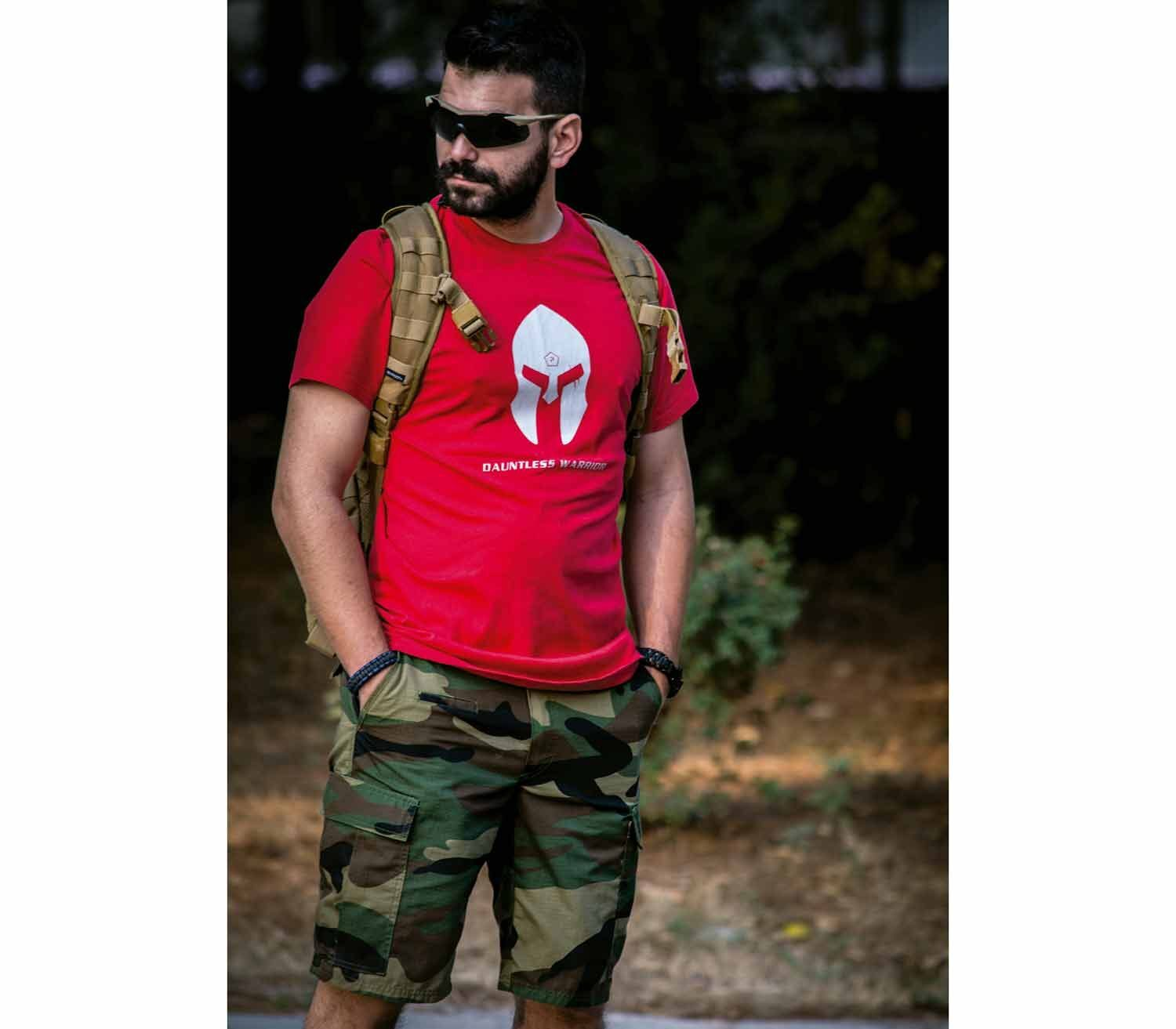Camiseta Pentagon Spartan Helmet out