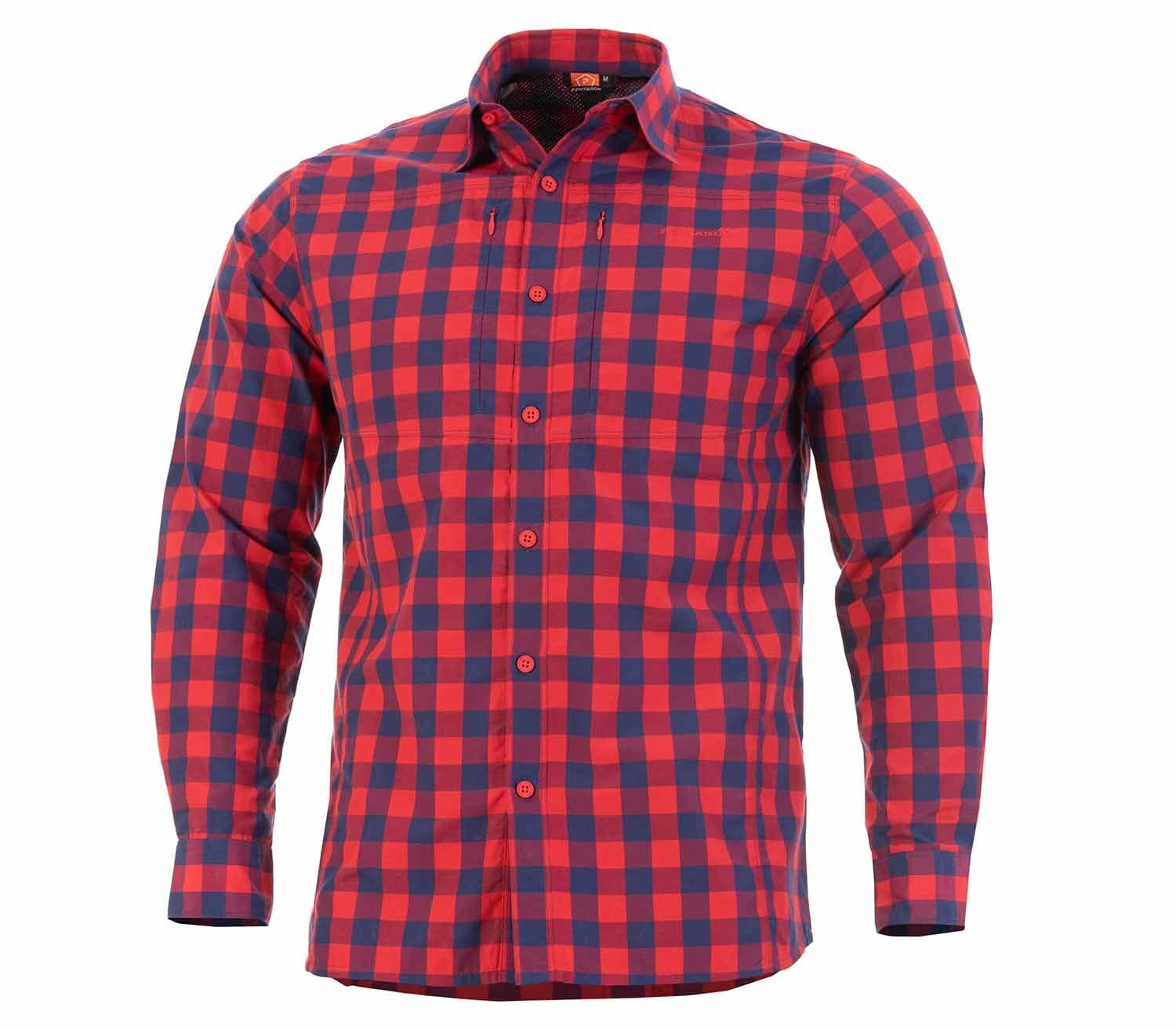 Camisa Pentagon QT Tactical Red Checks