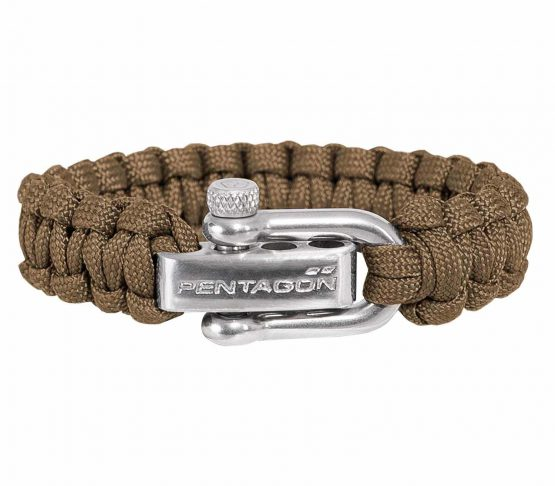 Pulsera ParaCord Pentagon Survival Coyote