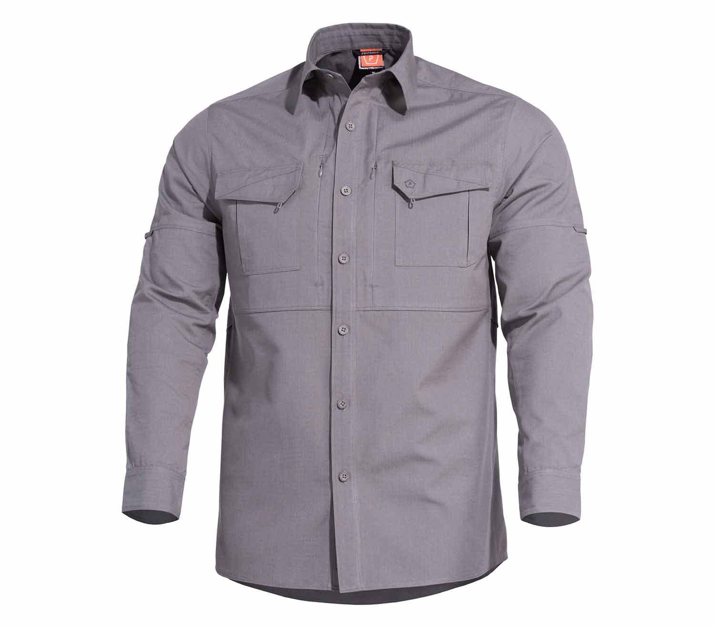 Camisa Pentagon Plato Lobo Gris