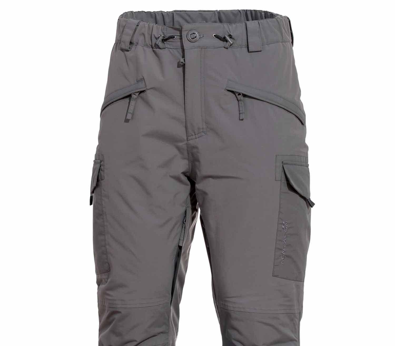 Pantalones Pentagon HCP Impermeables Gris frontal