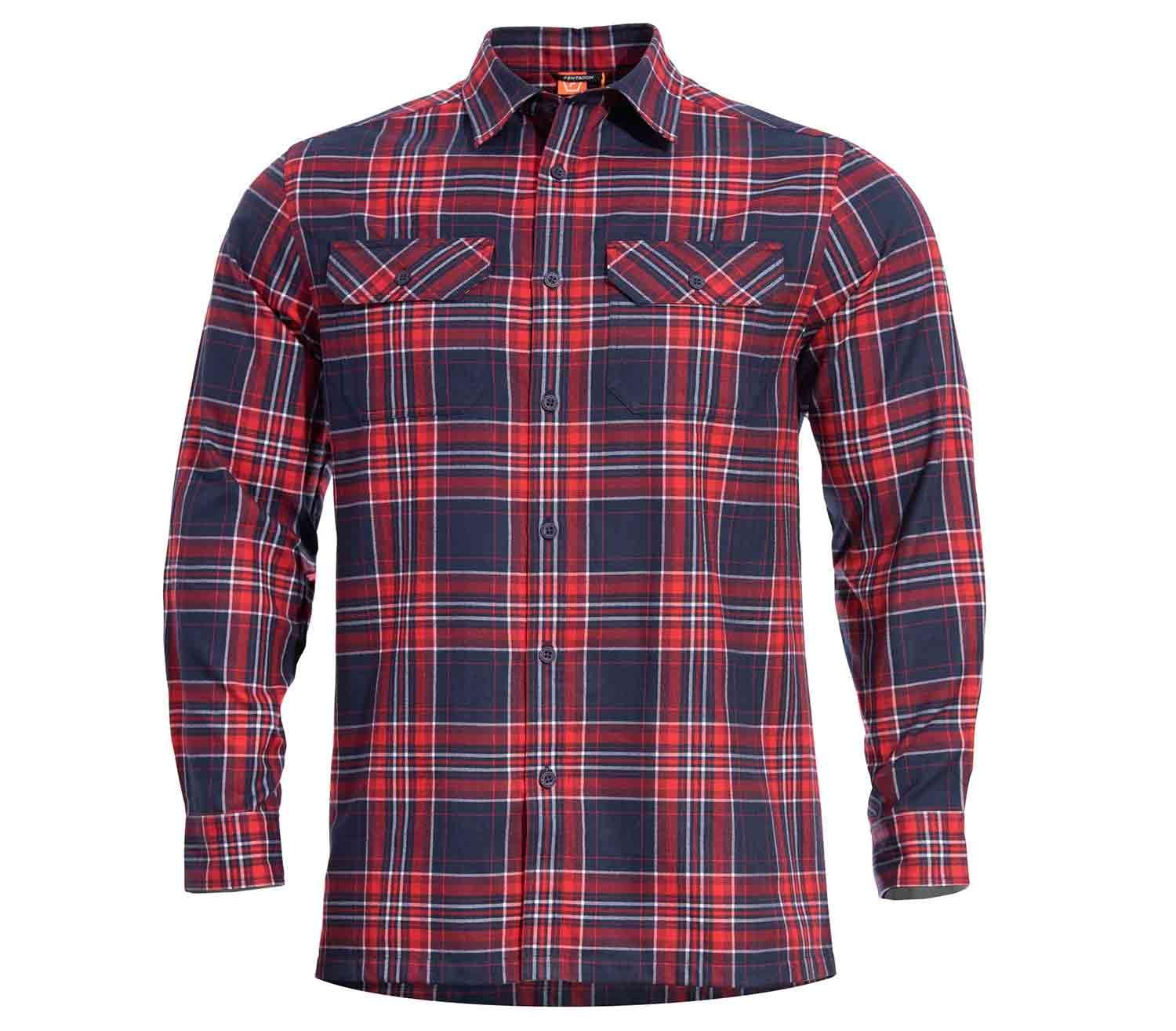 Camisa de Cuadros Pentagon Drifter Red Checks