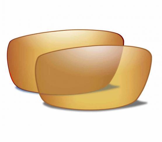 Lentes Amber Gold Mirror Polarizadas para WX Compass