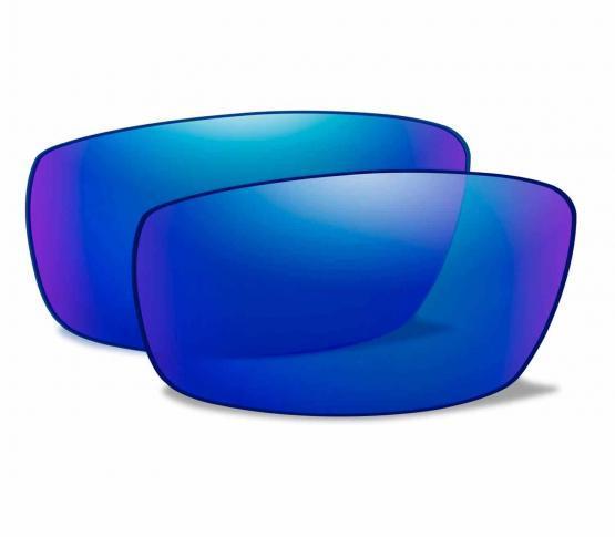 Lentes Blue Mirror Polarizadas para WX Saint