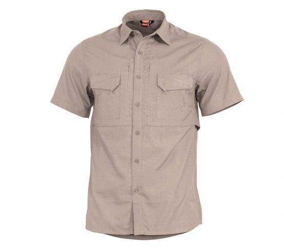 Camisa Pentagon Plato Manga Corta Caqui