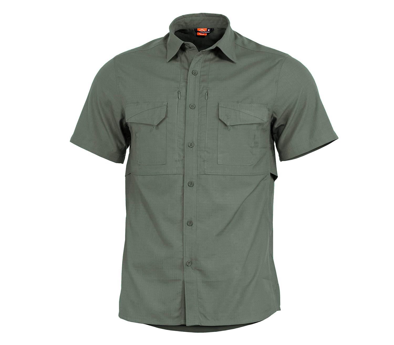Camisa Pentagon Plato Manga Corta Verde Camo