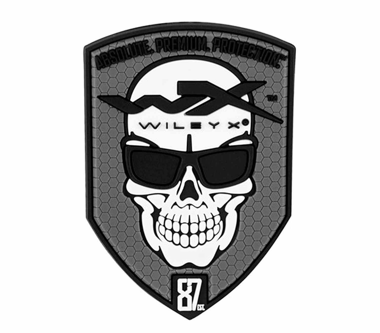 Parche de Velcro Wiley X Skull gris