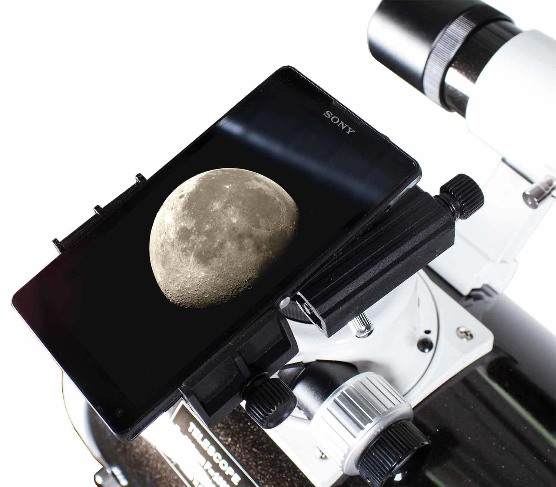 Adaptador para Smartphone Levenhuk A10 funcionamiento