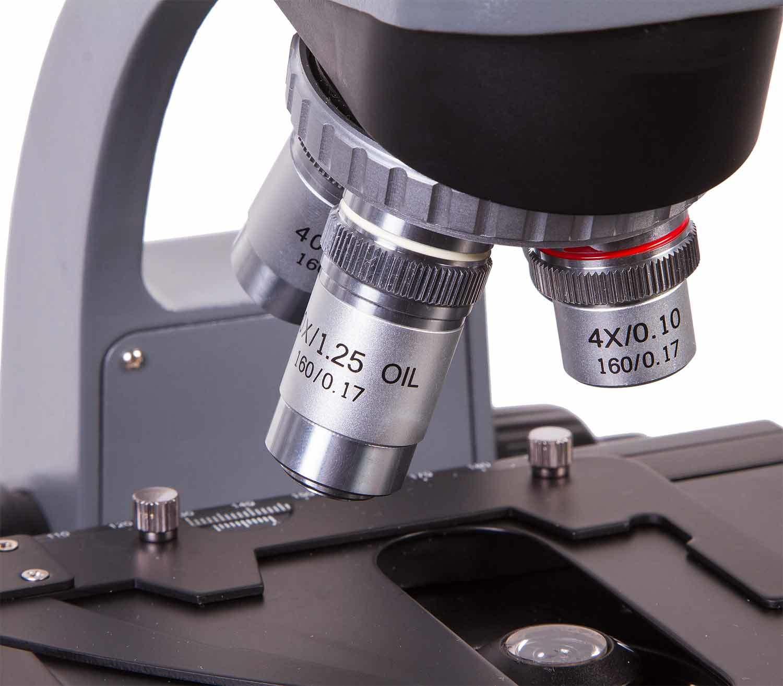 Microscopio Binocular Levenhuk 720B objetivos