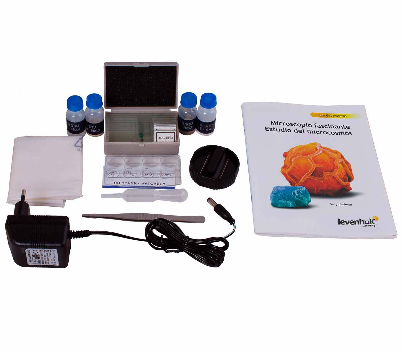 Microscopio Digital Levenhuk Rainbow D50L PLUS 2M kit