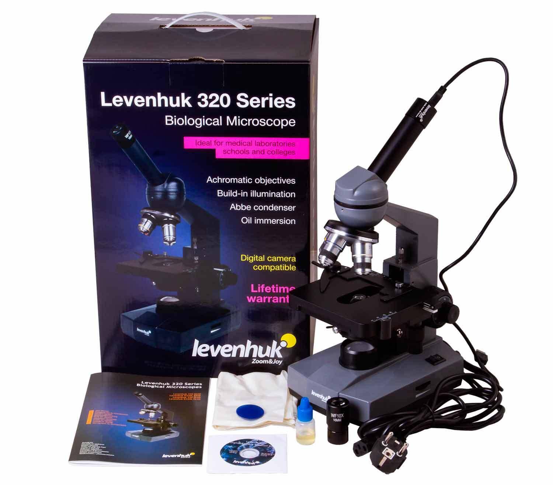 Microscopio Monocular Digital Levenhuk D320L BASE 3M caja