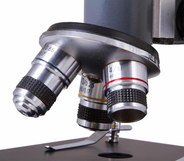 Microscopio Monocular Levenhuk 5S NG objetivos