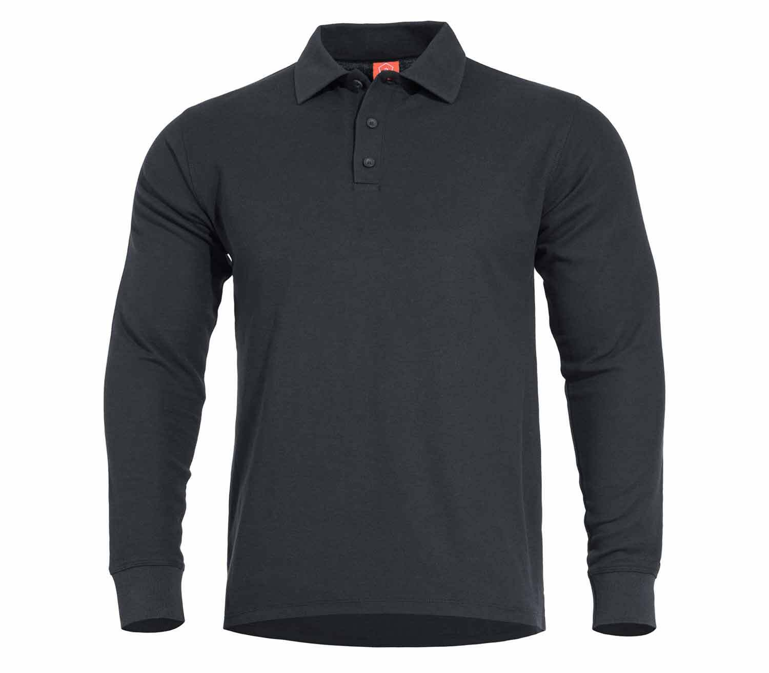 Polo Pentagon Aniketos Manga Larga Negro