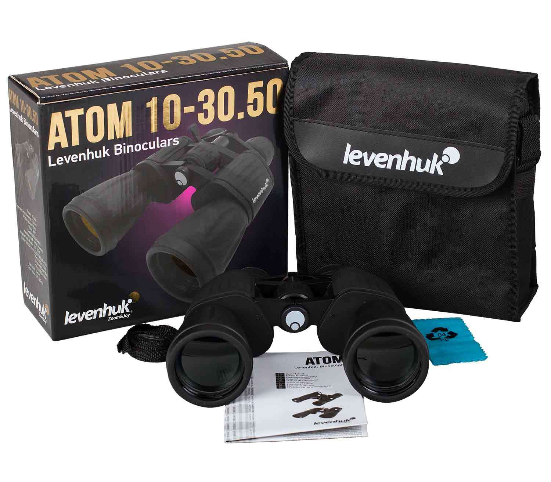 Prismáticos Levenhuk Atom 10-30x50 caja