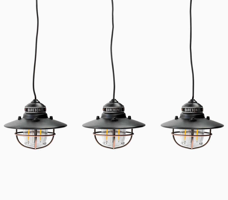 Set de Luces Colgantes Barebones Edison bronce