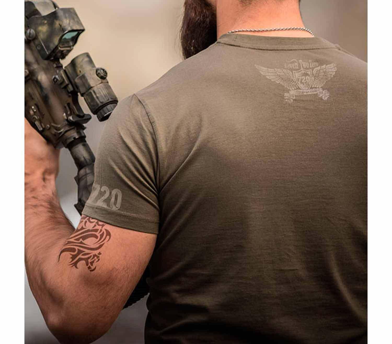 Camiseta 720gear Bushcraft Wilderness Survival espalda