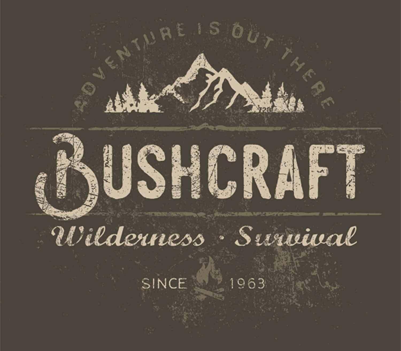 Camiseta 720gear Bushcraft Wilderness Survival logo