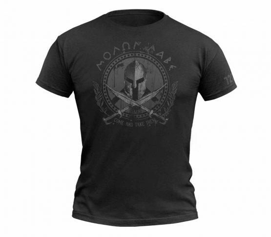 Camiseta 720gear Molon Labe Negro