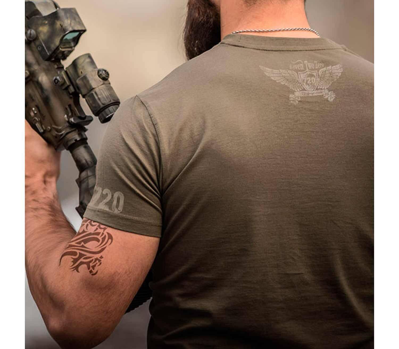 Camiseta 720gear Molon Labe espalda
