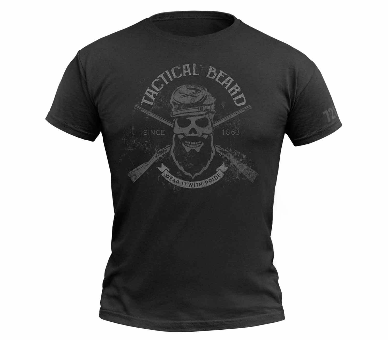Camiseta 720gear Tactical Beard Negro