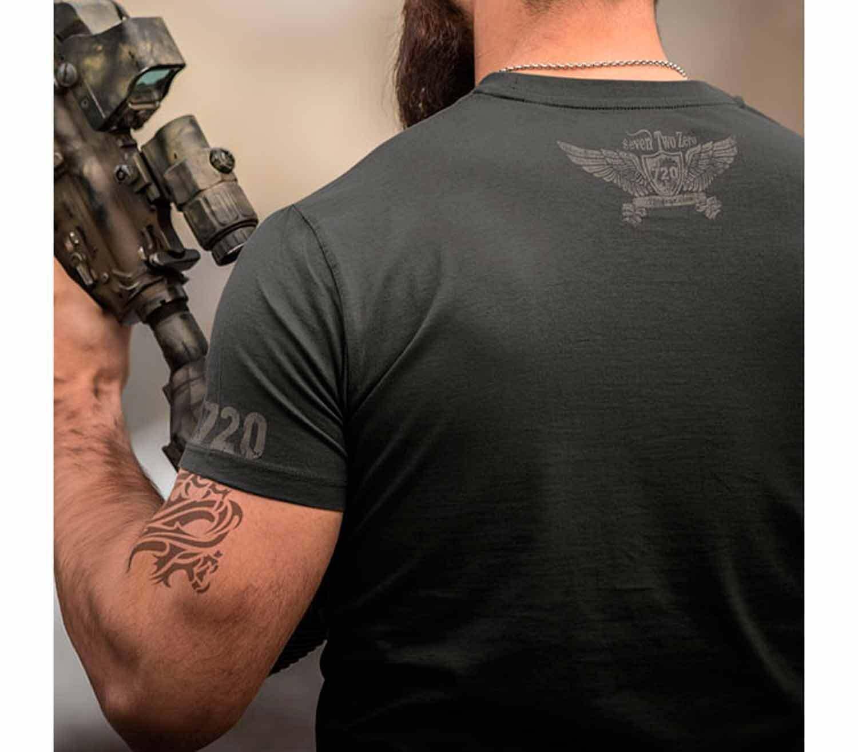 Camiseta 720gear Tactical Beard espalda