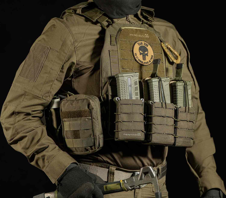 Portacargador Rifle Pentagon Elpis Doble chaleco